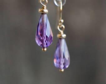 Purple Amethyst Earrings - February Birthstone