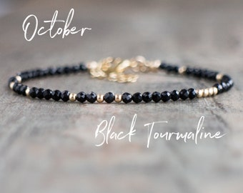 Black Tourmaline Bracelet - October Birthstone