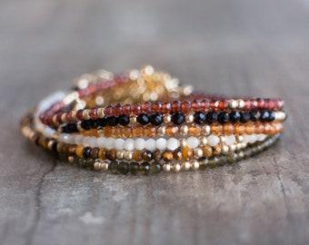 Skinny Gemstone Bracelets