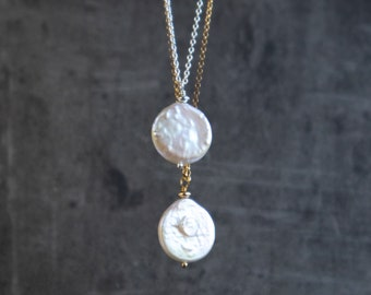 Single Coin Pearl Pendant Necklace