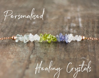 Personalised Healing Crystal Necklace - Custom Gift