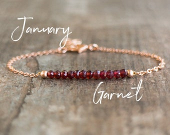Garnet Bracelet - January Birthstone