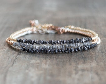 Raw Diamond Bracelet