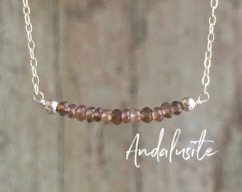 Andalusite Bar Necklace