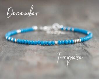 Dainty Turquoise Bracelet - December Birthstone