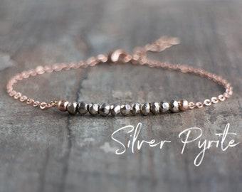 Silver Pyrite Bracelet