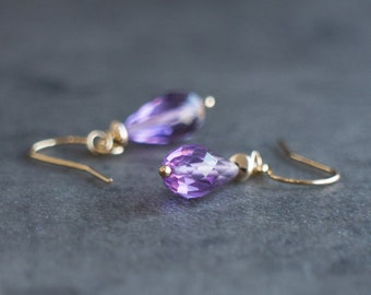 Purple Amethyst Earrings - February Birthstone