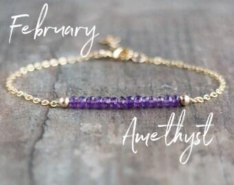 Amethyst Bracelet - February Birthstone