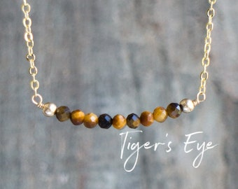 Tigers Eye Bar Necklace