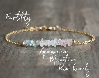Fertility Bracelet - Personalised Healing Stones Bracelet