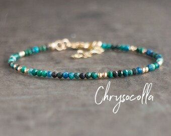 Dainty Chrysocolla Bracelet