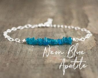 Neon Blue Apatite Bracelet