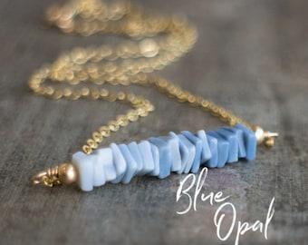 Peruvian Blue Opal - October Birthstone