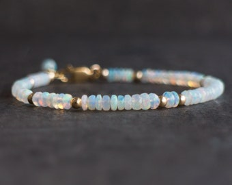 Opal Gemstone Bracelet - October Birthstone