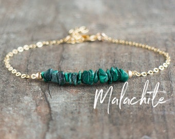 Raw Malachite Bracelet