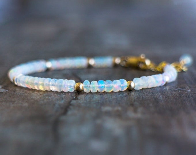 Featured listing image: Opal Bracelet - October Birthstone
