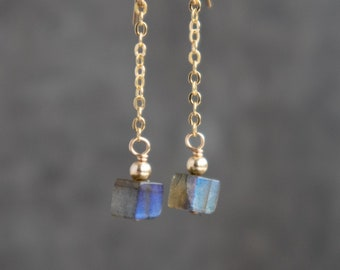 Labradorite Tiny Drop Earrings