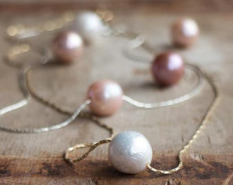 Single Pearl Necklace - June Birthstone Necklace