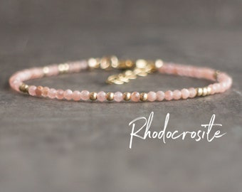 Dainty Rhodocrosite Bracelet