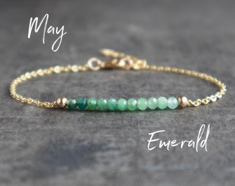 Emerald Bracelet - May Birthstone