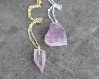 Raw Kunzite Necklace
