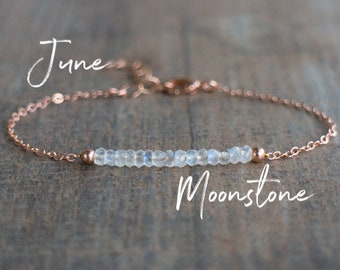 Moonstone Bracelet - June Birthstone