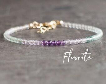 Ombre Fluorite Bracelet