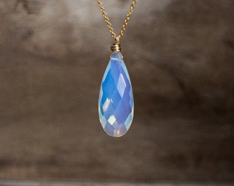 Ice Opalite Quartz Necklace - October Birthstone