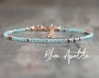 Skinny Blue Topaz Bracelet - November, December Birthstone