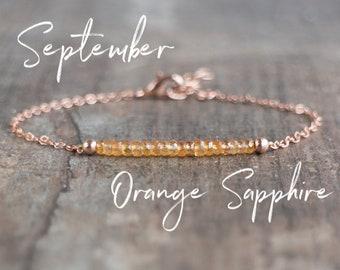Orange Sapphire Bracelet