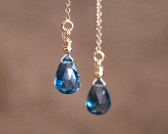 London Blue Topaz Earrings - November Birthstone