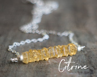 Citrine Necklace, Gemstone Necklace, Gift for Wife, November Birthday Gifts, Citrine Jewelry, Sacral Chakra Jewelry, November Birthstone