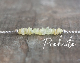 Raw Prehnite Necklace