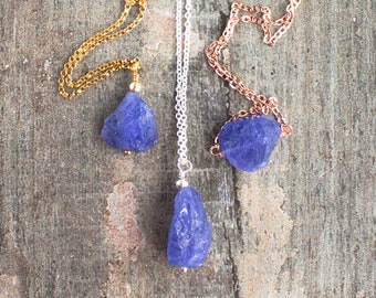Raw Tanzanite Necklace