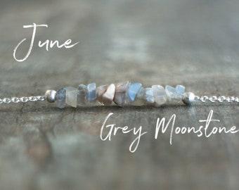 Grey Moonstone Necklace