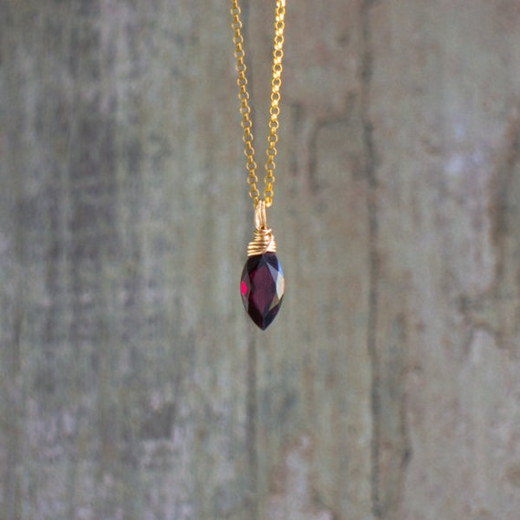 Garnet Gold Necklace