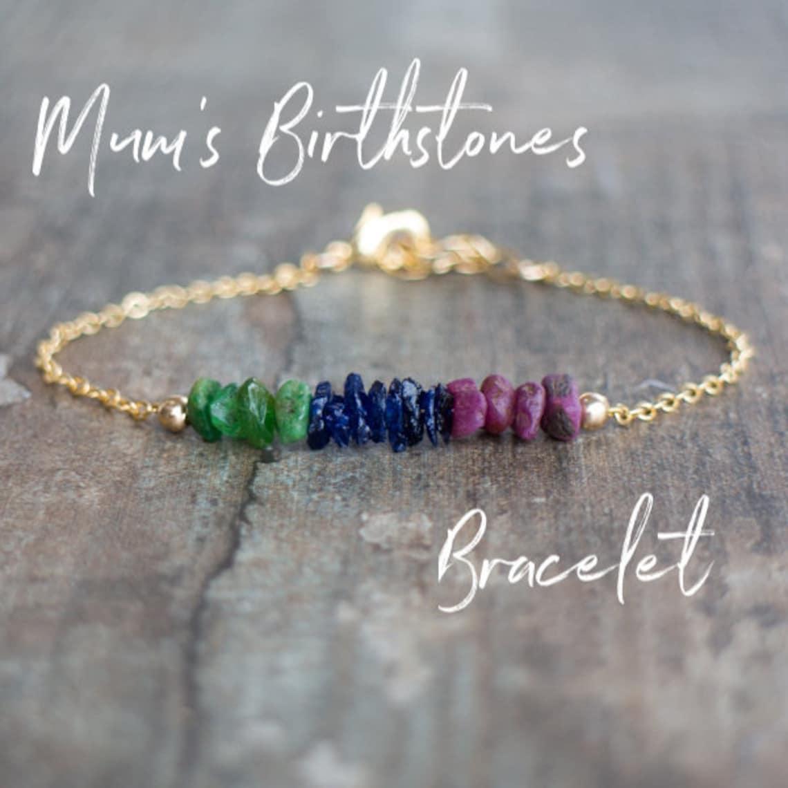 Custom Birthstone Bracelet