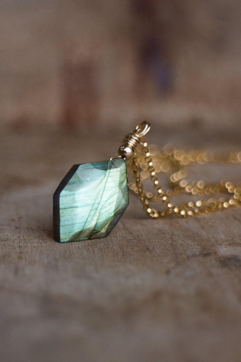 Labradorite Necklace Labradorite Pendant Jewelry Gifts for image 0