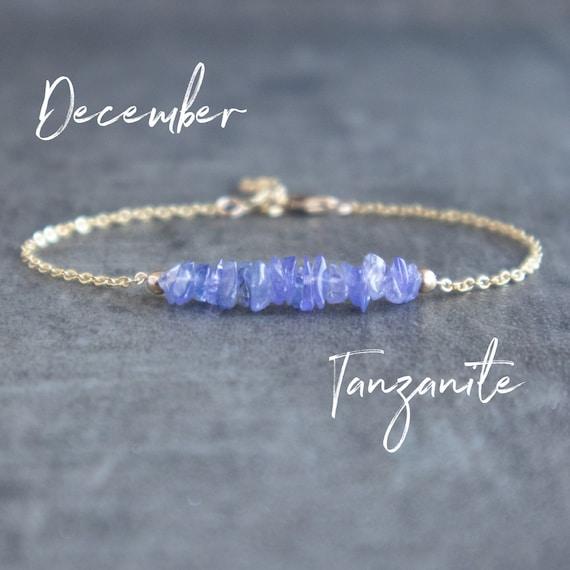 Tanzanite Bracelet,Natural Tanzanite Bracelet,Uncut Bracelet,Gemstone Bracelet,Loose Stone Bracelet,Raw Bracelet,December Birthstone,Z-388