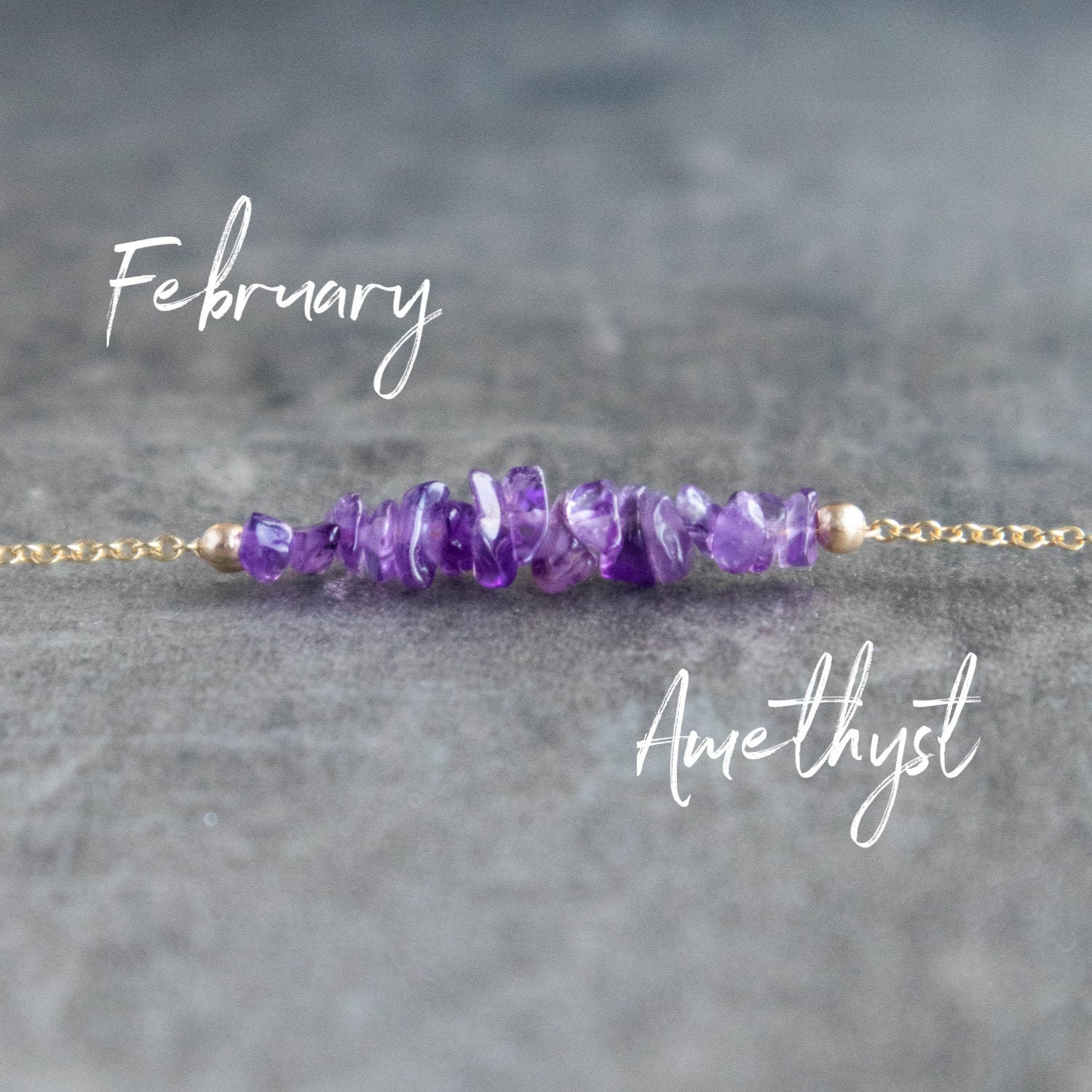 Sterling Silver Birthday Gift Genuine Amethyst Necklace February Birthstone Necklace Rough Crystal Necklace Dainty Silver Necklace