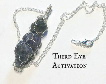 Jet,Chiastolite Crystal Necklace Protection Jewelry Crystal Healing Wire Wrapped Crystals Root Chakra Grounding Evil Eye Unisex #713