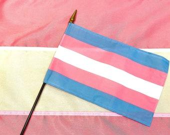 Transgender Hand Flag -8''x 12'' Pride Parade Flag