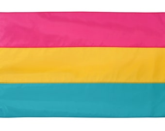 Pansexual Pride Flag, PINK, YELLOW, BLUE Pride Flag, Nylon, hand-made