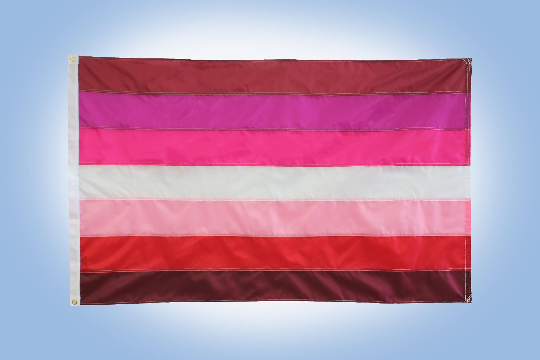 Lesbischen Pride Flag 3\' x 5 Flagge 7-Streifen lesbische