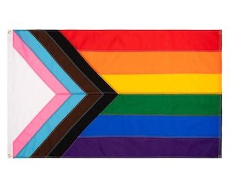Daniel Quasar Custom sewn Progress Pride Flag