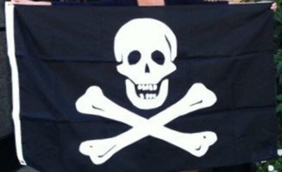 3 x 5 jolly roger flag applique flag custom etsy