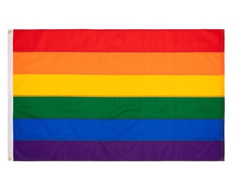Rainbow Pride Flag - Hand Sewn Nylon - Made in USA - Custom Sizes Available