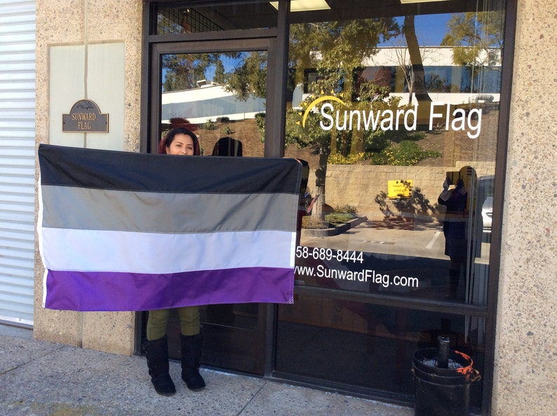 Asexuelle Flagge 3 X 5 Schwarz Grau Weiß Lila Etsy