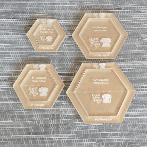 Hexagon small set english paper piecing template etsy image 0 maxwellsz