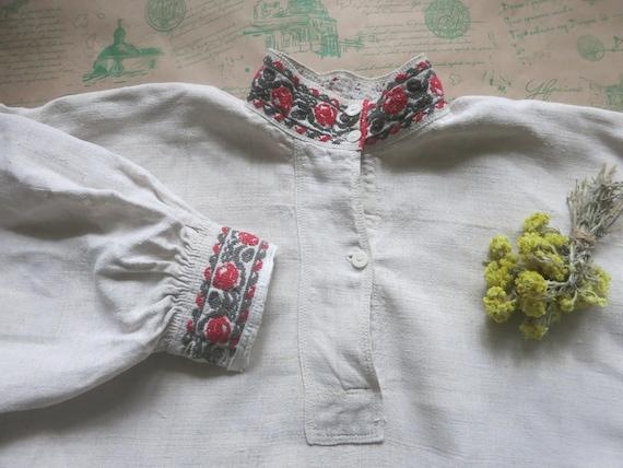 Hemp shirt for men Organic clothing Ukrainian Vysh